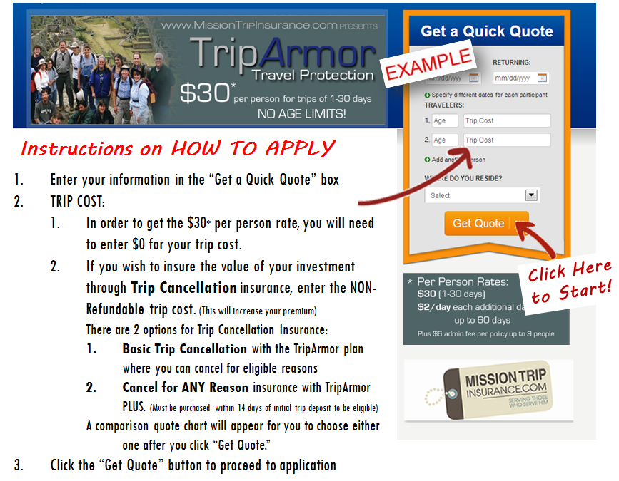 How To Apply for Trip Armor
